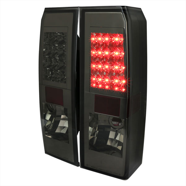 Spec-D Tuning LT-H306GLED-TM |  Hummer H3 Led Tail Lights Smoke; 2005-2010