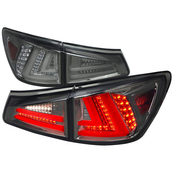 Spec-D Tuning LT-IS25006GLED-TM |  Lexus Is250 Led Tail Lights Smoked; 2006-2008
