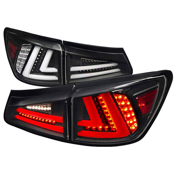Spec-D Tuning LT-IS25006JMLED-TM |  Lexus Is250 Led Tail Lights Black, 06-08