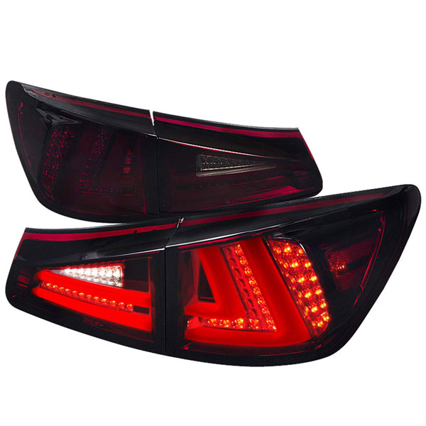Spec-D Tuning (LT-IS25006RGLED-TM)  Lexus Is250 Led Tail Lights Red Smoked, 06-08