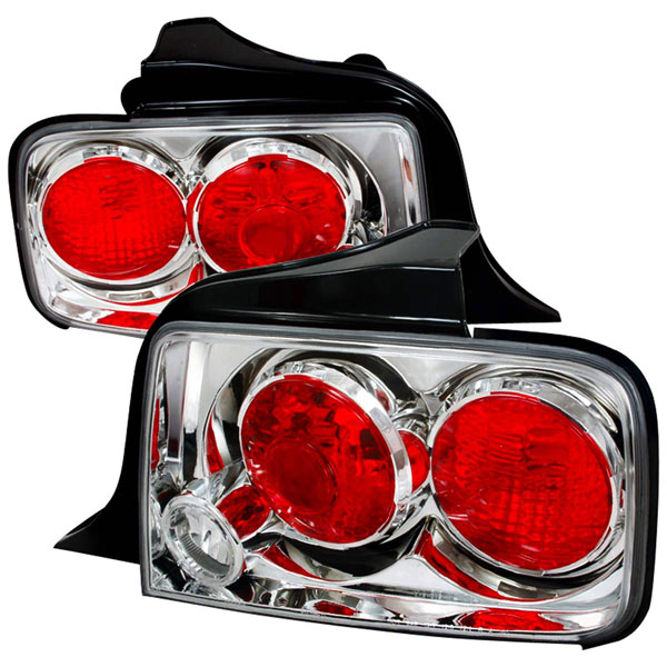 Spec-D Tuning LT-MST05-TM: Spec-D 05-09 Ford Mustang Taillights - Chrome (lt-mst05-tm) V8