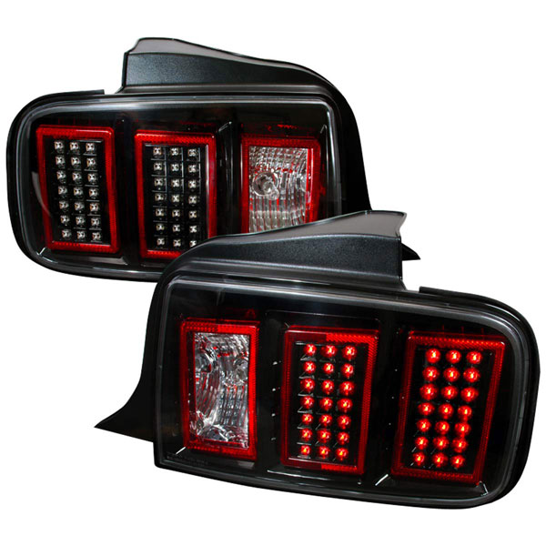 Spec-D Tuning LT-MST05JMLED-DP: Spec-D 05-09 Ford Mustang Led Taillights (lt-mst05jmled-dp) V6