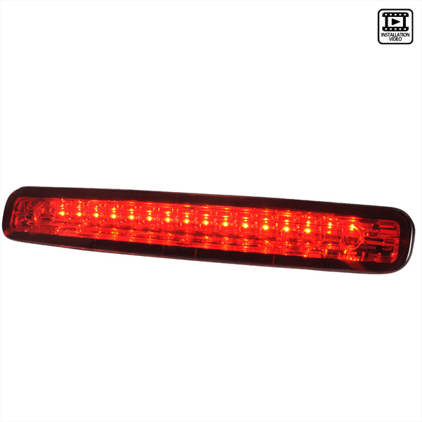 Spec-D Tuning LT-MST05RBRLED-APC |  Ford Mustang Led 3rd Brake Light Chrome; 2005-2009