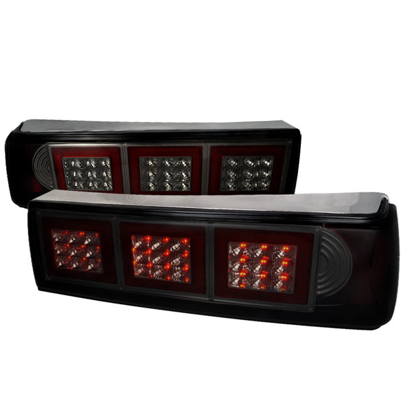 Spec-D Tuning LT-MST87GLED-APC |  Ford Mustang Led Tail Lights Smoke; 1987-1993