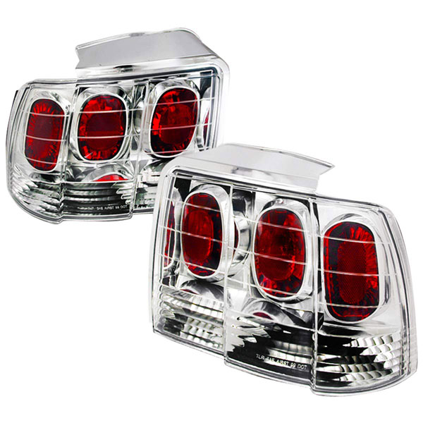 Spec-D Tuning LT-MST99-APC |  Ford Mustang Altezza Tail Light Chrome; 1999-2004
