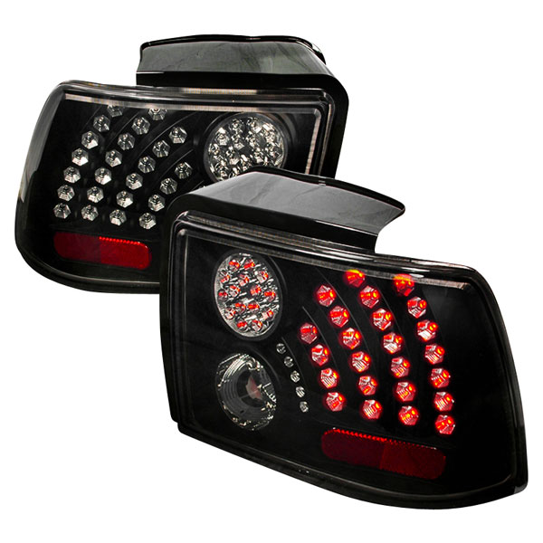Spec-D Tuning LT-MST99BGLED-WJ: Spec-D 99-04 Ford Mustang Led Taillights (lt-mst99bgled-wj) V6