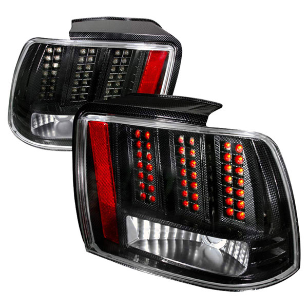Spec-D Tuning LT-MST99CFLED-DP |  Ford Mustang Led Tail Lights Chrome, 99-04