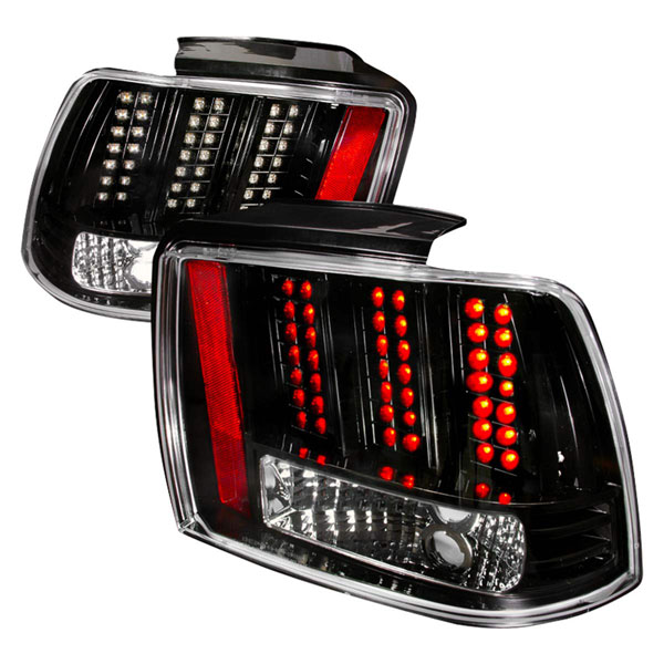 Spec-D Tuning LT-MST99JMLED-DP |  Ford Mustang Led Tail Lights Black; 1999-2004