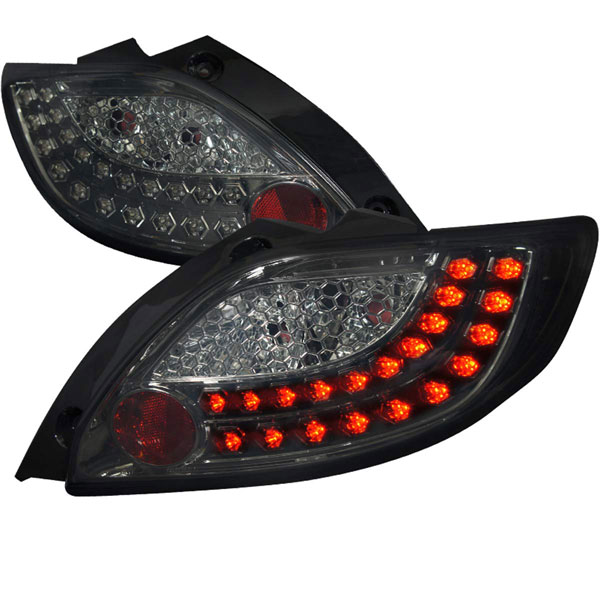 Spec-D Tuning LT-MZD211GLED-TM |  Mazda 2 Smoked Lens Led Tail Lights; 2011-2012