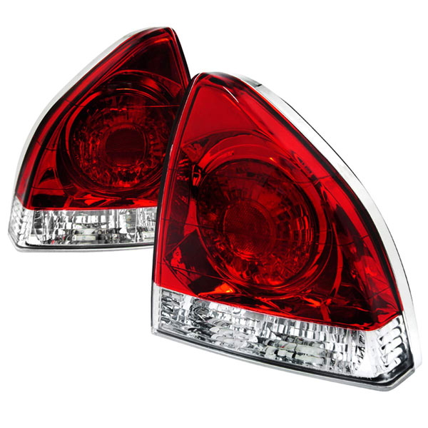 Spec-D Tuning LT-PL92RPW-APC |  Honda Prelude Tail Lights Red Clear; 1992-1996