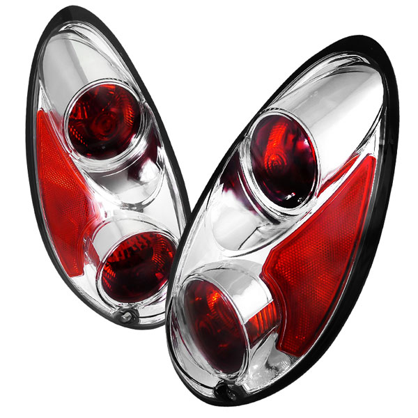 Spec-D Tuning LT-PTC01-APC | Chrysler Pt Cruiser Euro Tailights Chrome Housing; 2000-2004