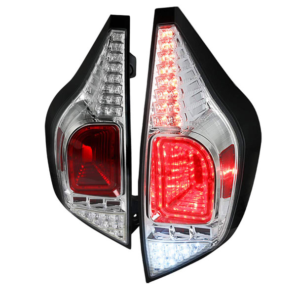 Spec-D Tuning LT-PUSC12CLED-TM |  Toyota Prius Chrome Led Tail Lights; 2012-2014