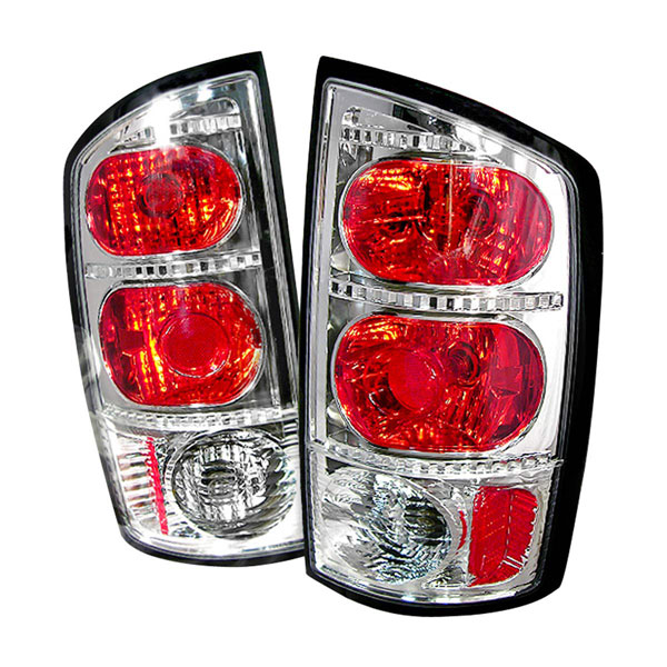 Spec-D Tuning LT-RAM02-KS: Spec-D 02-up Dodge Ram Taillights - Chrome (lt-ram02-ks)