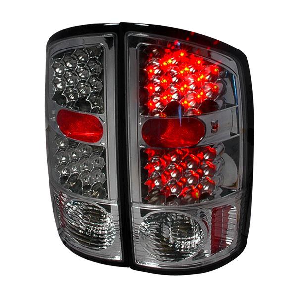 Spec-D Tuning LT-RAM02GLED-KS |  Dodge Ram Led Tail Lights Smoke, 02-06