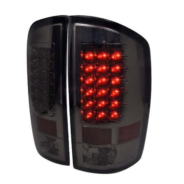 Spec-D Tuning LT-RAM02GLED-TM |  Dodge Ram Led Tail Lights Smoke, 02-06