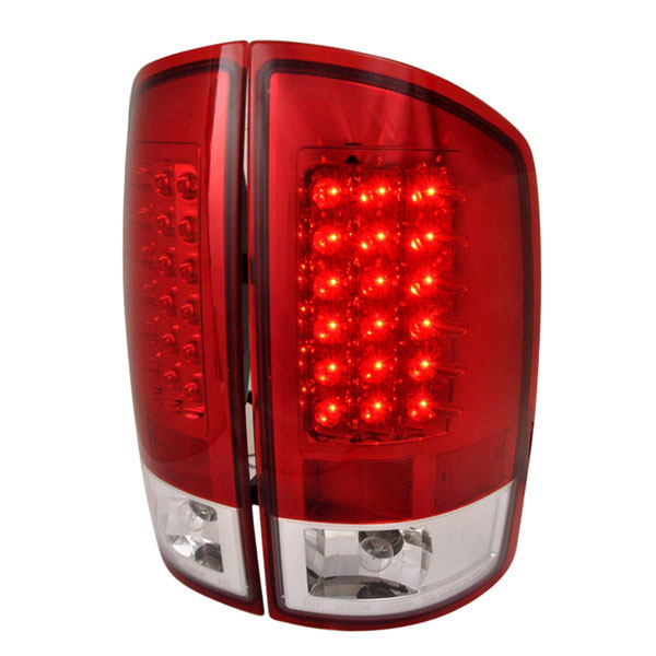 Spec-D Tuning LT-RAM02RLED-TM |  Dodge Ram Led Tail Lights Red; 2002-2006