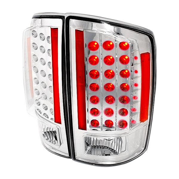 Spec-D Tuning LT-RAM07CLED-KS |  Dodge Ram Led Tail Lights Chrome, 07-08