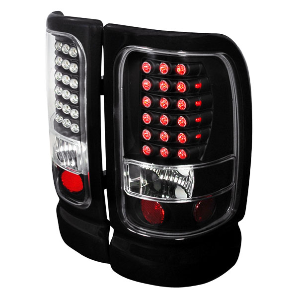 Spec-D Tuning LT-RAM94JMLED-KS: Spec-D 94-01 Dodge Ram Led Taillights - Black (lt-ram94jmled-ks)