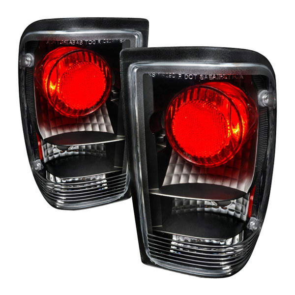 Spec-D Tuning LT-RAN93JM-KS |  Ford Ranger Altezza Tail Lights Black, 93-97