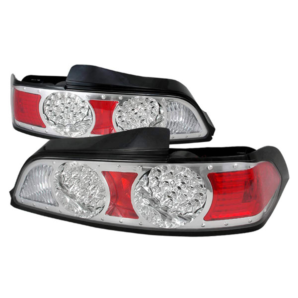 Spec-D Tuning LT-RSX05CLED-DP |  Acura Rsx Led Tail Lights Chrome, 05-06