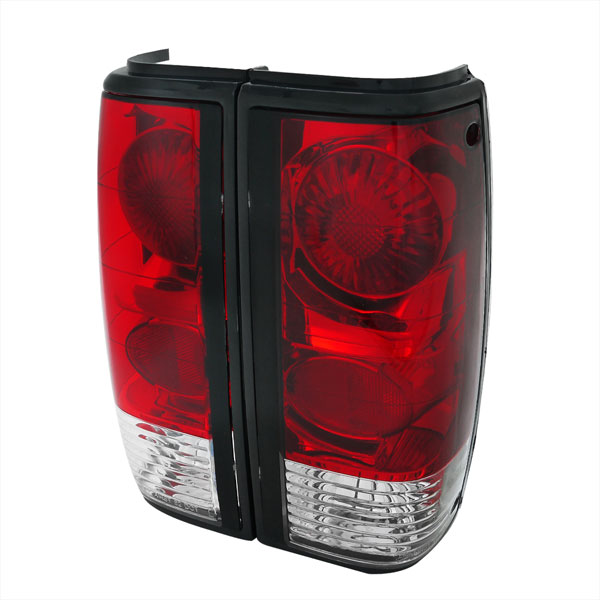 Spec-D Tuning LT-S1082RPW-APC |  Chevrolet S10 Tail Lights - Red Clear; 1982-1993