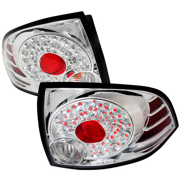 Spec-D Tuning LT-SEN04CLED-DP: Spec-D 04-05 Nissan Sentra Led Taillights Chrome (lt-sen04cled-dp)
