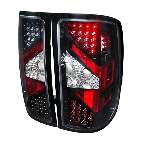 Spec-D Tuning LT-SIE07JMLED-DP |  Gmc Sierra Led Tail Lights Black, 07-12