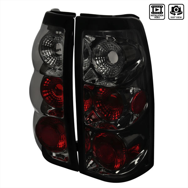 Spec-D Tuning LT-SIV03G-TM: Spec-D 03-up Silverado Taillights - Gunmetal (lt-siv03g-tm)