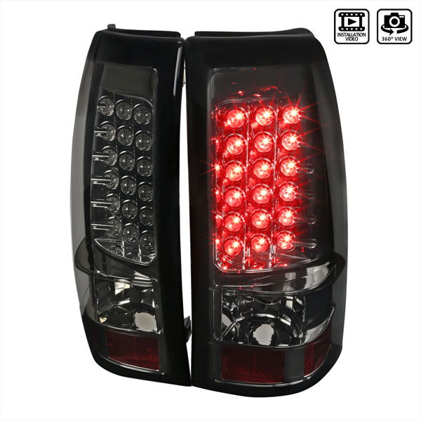 Spec-D Tuning LT-SIV03GLED-TM |  Silverado Led Tail Lights Smoke, 03-06