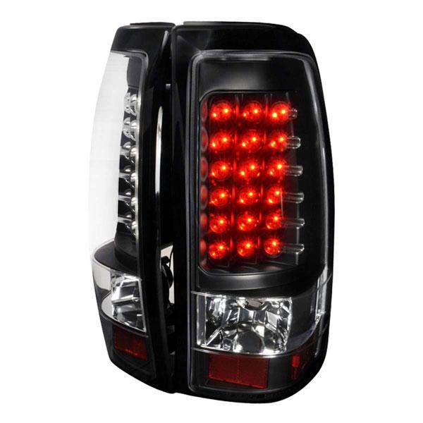Spec-D Tuning LT-SIV03JMLED-TM |  Silverado Led Tail Lights Black, 03-06