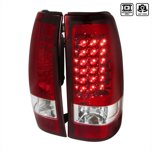 Spec-D Tuning LT-SIV03RLED-TM    Silverado Led Tail Lights Red, 03-06