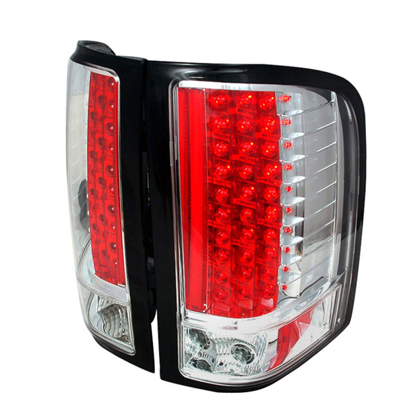 Spec-D Tuning LT-SIV07CLED-KS |  Silverado Led Tail Lights Chrome, 07-11