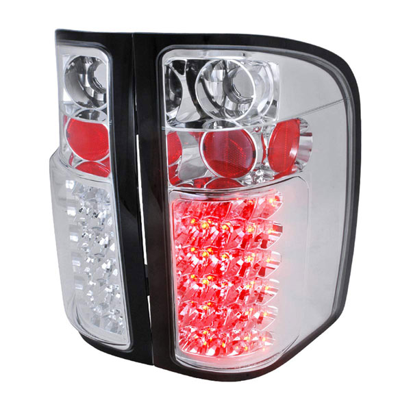 Spec-D Tuning LT-SIV07CLED-TM |  Silverado Led Tail Lights Chrome, 07-11
