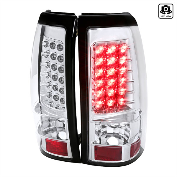 Spec-D Tuning (LT-SIV99CLED-TM)  Silverado Led Tail Lights Chrome, 99-02