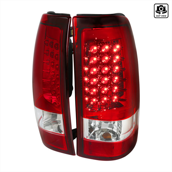 Spec-D Tuning LT-SIV99RLED-TM    Silverado Led Tail Lights Red, 99-02