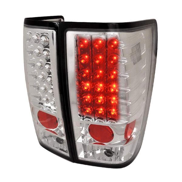 Spec-D Tuning LT-TIT04CLED-TM |  Nissan Titan Led Tail Lights Chrome, 04-12