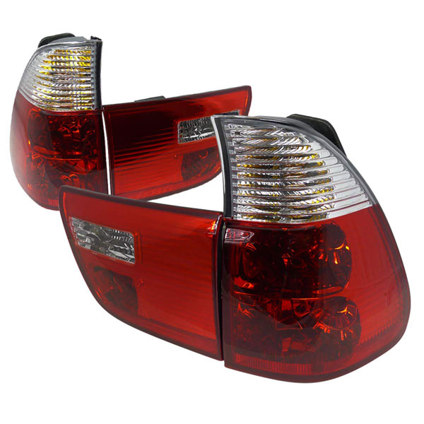 Spec-D Tuning LT-X500RPW-APC |  Bmw E53 Altezza Tail Light Red Clear, 00-05