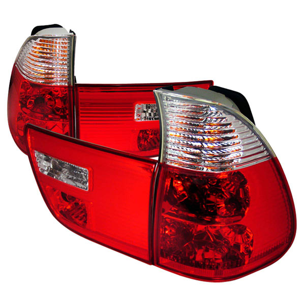 Spec-D Tuning LT-X500RPW-KS: Spec-D 00-05 Bmw X5 Taillights - Red/clear (lt-x500rpw-ks)
