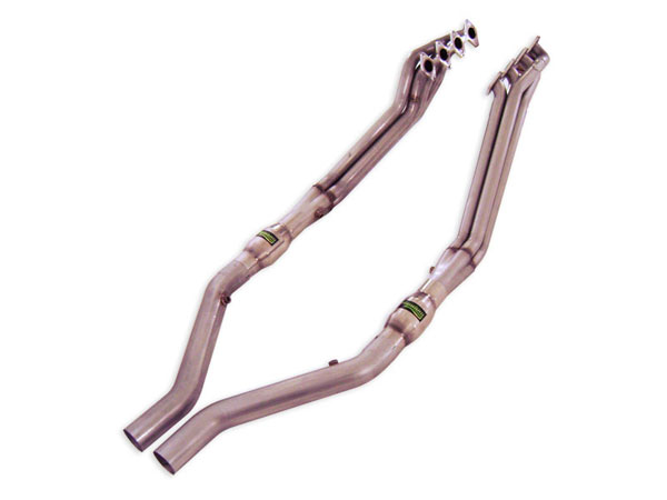 "Stainless Works M05H175 |  Ford Mustang Headers 1 3/4"" Catted Leads; 2005-2010"