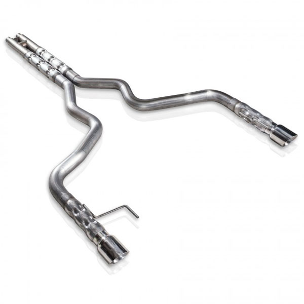 Stainless Works M15CB |  Ford Mustang GT Exhaust: 3 inch Chambered Round Catback With Factory Connect H-Pipe and 2.5-inch Muffler Core; 2015-2016