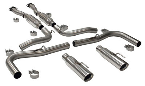 SLP Performance (M31006A) SLP Loudmouth 2 Exhaust Mustang Cobra 1999-04 w/ 3.5'' Cat-back System w/ double-wall tips