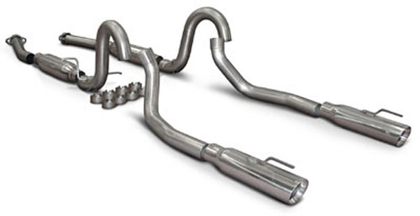 "SLP Performance M31007A | SLP Loudmouth 2 Exhaust Mustang GT MACH 1 V8 w/ 3.5"" Cat-back System w/ double-wall tips; 1999-2004"