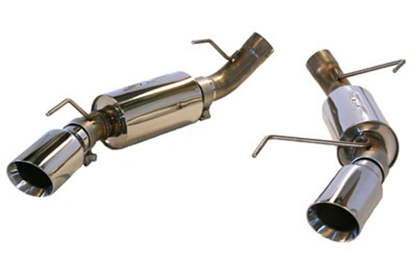 SLP Performance M31012 | SLP Stainless Steel Power-Flo Axle-Back Exhaust Mustang GT w/ 4 inch Tips V8; 2005-2010