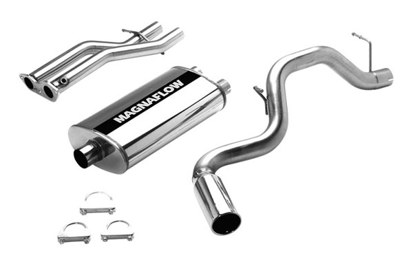 Magnaflow (15701)  Exhaust System for GM TAHOE/YUKON 1996-1999 5.7L Single Side Exit 5 x 11 x 22in. Dual Inlet Muffler; 3.0/2.5in. Tubing