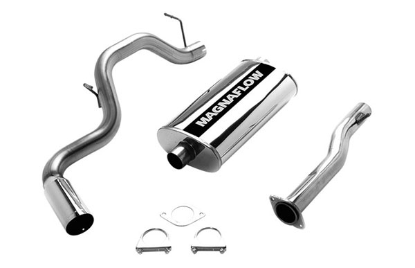 Magnaflow (15702)  Exhaust System for GM TAHOE/YUKON 1996-1999 5.7L Single Side Exit 5 x 11 x 22in. Single Inlet Muffler; 3.0in. Tubing
