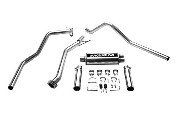 Magnaflow 15792 |  Exhaust System for GM SILVERADO/SIERRA 1500 2003-2007 Classic 4.3L 4.8L 5.3L EC/ShrtB Dual Split Rear Exit