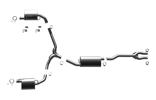 Magnaflow (16484)  Exhaust System for 2009 Challenger SE OEM Tips