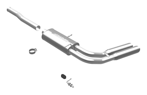 Magnaflow 16569:  Exhaust System for 2009 Silverado/Sierra 4.8L 5.3L 6.0L CC/EC, Shrt Bed Dual Before Tire Exit