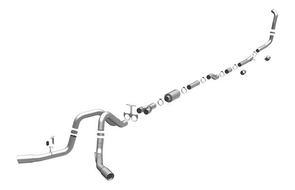 Magnaflow 16919 |  Exhaust System for FORD 6.0L POWERSTROKE DIESEL, 4in. SYSTEM 2005-2007