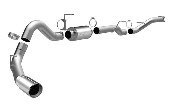 Magnaflow 16930 |  Exhaust System for GM DURAMAX DIESEL 6.6L Silverado/Sierra 4in. CB SYSTEM CC/LB Dually Single Side Exit; 2001-2005